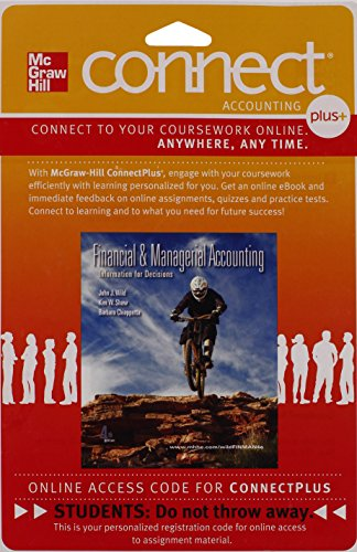 9780077318260: Connect Plus Accounting with LearnSmart 2 Semester Access Card for Financial and Managerial Accounting