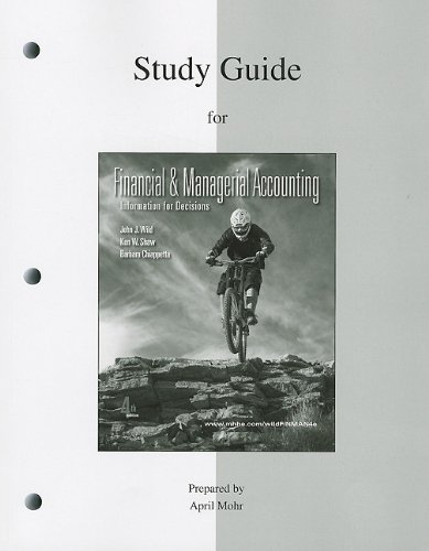 9780077318345: Study Guide to accompany Financial and Managerial Accounting