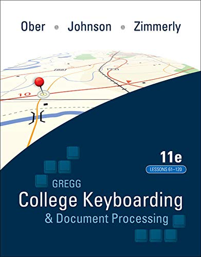 College Keyboading and Document Processing: Scot Ober; Arlene