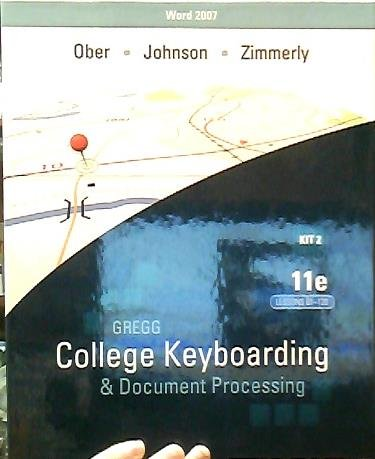 9780077319465: Title: GREGG COLLEGE KEYBOARDING KIT 2,61-120