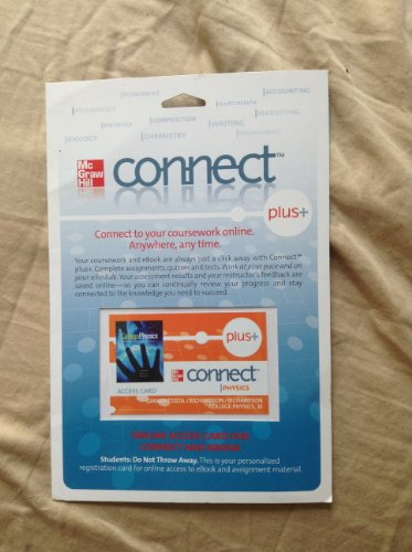 9780077320706: Connect Plus Access Card for College Physics