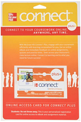 9780077321062: Connect Plus Access Card for Hole's Anatomy and Physiology