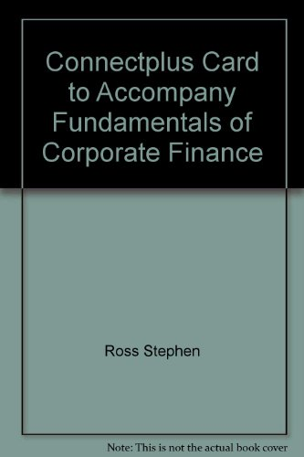 9780077326883: ConnectPlus card to accompany Fundamentals of Corporate Finance