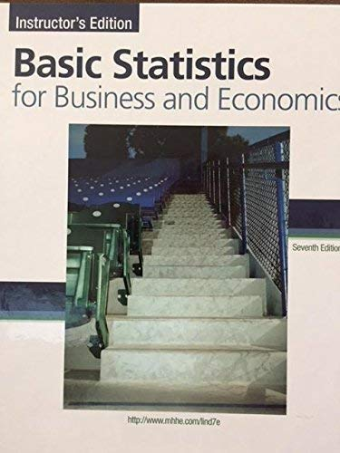 9780077326906: Basic Statistics for Business and Economics Instructor's Edition