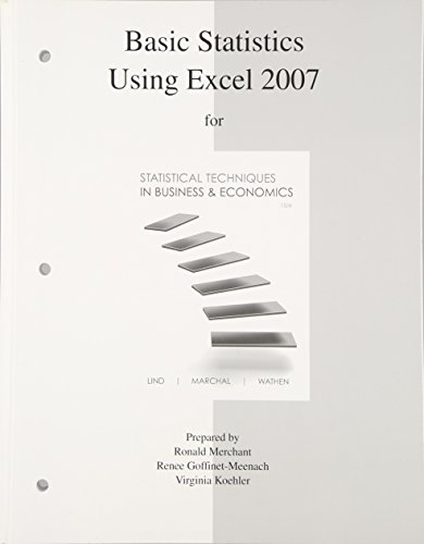 9780077327026: Basic Statistics Using Excel to accompany Statistical Techniques in Business and Economics