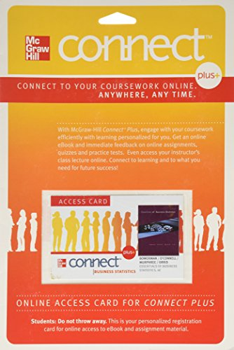 9780077327224: Connect Plus Access Card for Essentials of Business Statistics