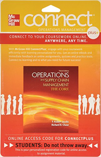 9780077327279: Connect 1-Semester Access Card for Operations & Supply Chain Management: Core 3e