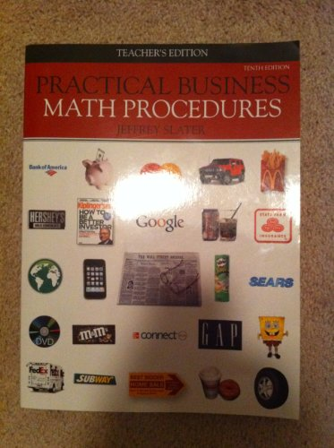 Practical business math procedures 10th edition answers solutions.