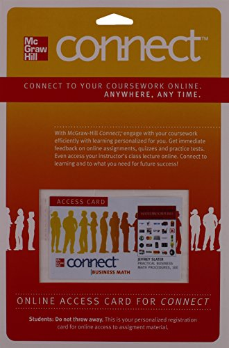 9780077328023: Connect Access Card for Practical Business Math Procedures
