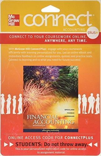 Connect 1-Semester Access Card for Financial Accounting: Spiceland, J. David, Thomas, Wayne, ...