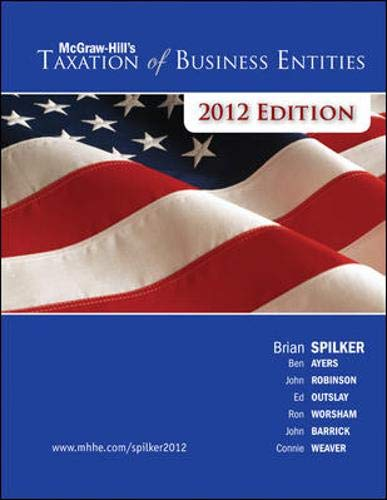 9780077328412: McGraw-Hill's Taxation of Business Entities, 2012e