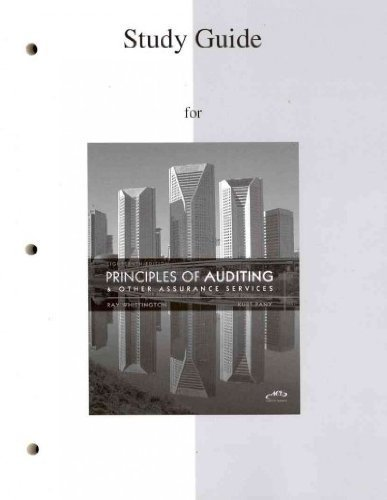 9780077328504: Student Study Guide to Accompany Principles of Auditing and Other Assurance Services