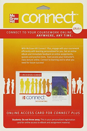 9780077328634: Connect Plus Access Card for Financial and Managerial Accounting