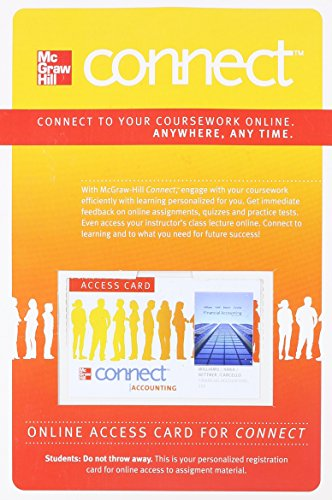 Connect Access Card for Financial Accounting: Carcello, Joseph, Bettner,