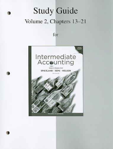 9780077328887: Study Guide, Volume 2 to accompany Intermediate Accounting