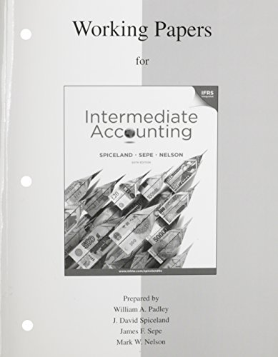 9780077328894: Working Papers to accompany Intermediate Accounting