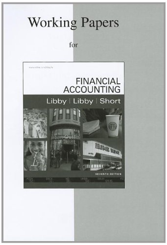9780077329105: Working Papers to accompany Financial Accounting