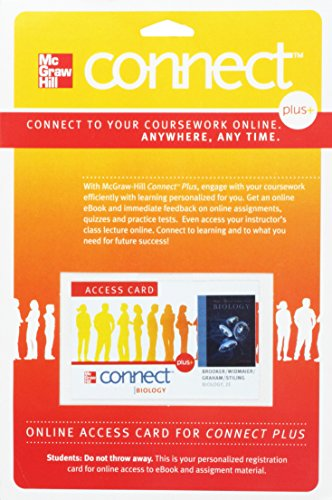 McGraw-Hill Connect+ Access Code to accompany Biology: Robert Brooker