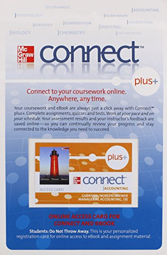 9780077330552: Connect Plus Card to Accompany Managerial Accounting 13e