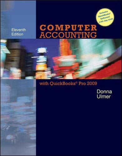 9780077330705: Computer Accounting with QuickBooks Pro 2009 with Student Data Files & QuickBooks Trial Software