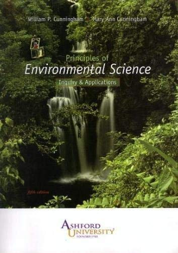 9780077330934: Principles of Environmental Science Inquiry & Applications (Ashford University)