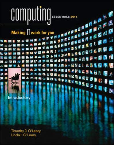 9780077331399: Computing Essentials 2011 Introductory Edition (The O'Leary Series)