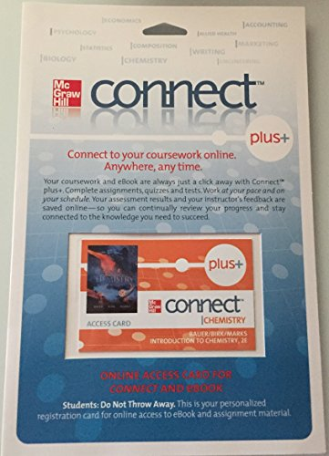 9780077331504: ConnectChemistry Plus Access Card for Introduction to Chemistry