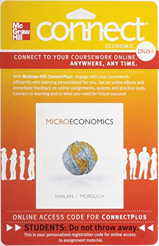 9780077332501: Connect 1-Semester Access Card for Microeconomics