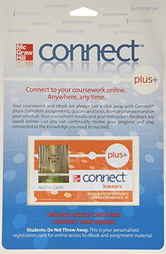 9780077333386: Connect Plus Card for Corporate Finance