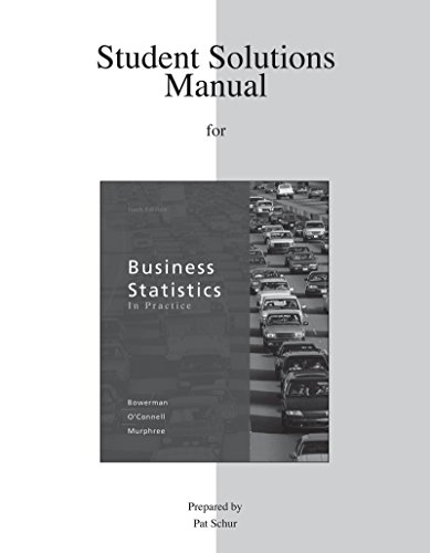 9780077334031: Student Solutions Manual for Business Statistics in Practice