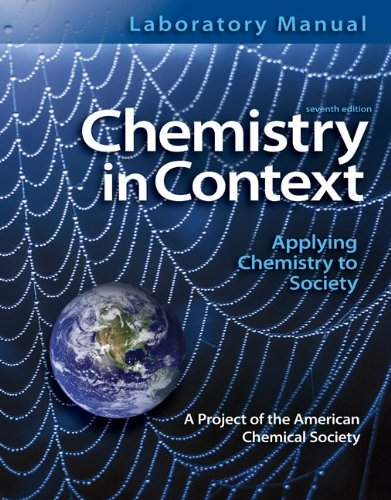 9780077334482: Laboratory Manual Chemistry in Context