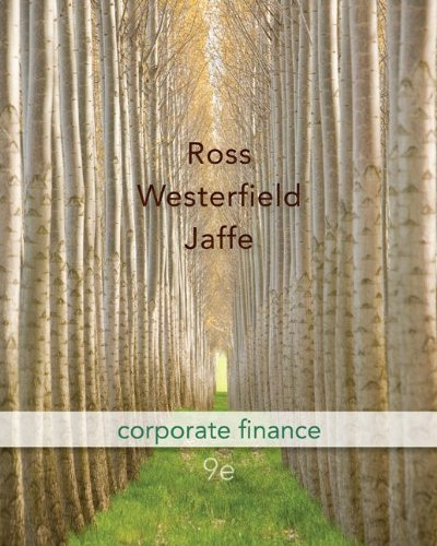 9780077337629: Corporate Finance 9th Edition (McGraw-Hill/Irwin Series in Finance, Insurance and Real Estate)