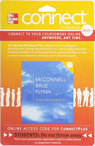9780077337797: Connect Plus Economics with LearnSmart One Semester Access Card for Macroeconomics