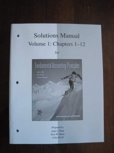 9780077338152: Solutions Manual Vol 1 for Fap Volume 1 (Ch 1-12)