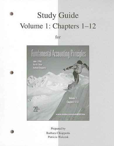 9780077338169: Study Guide Vol 1 for FAP Volume 1 (CH 1-12)