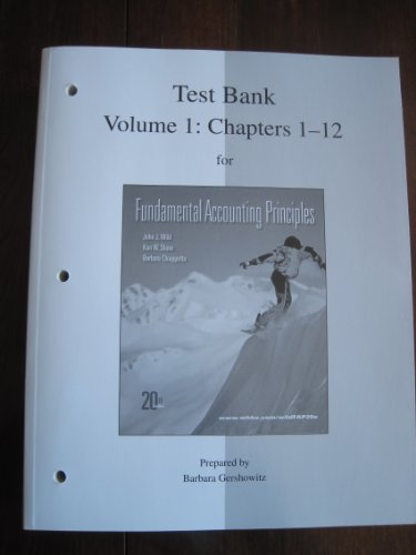 9780077338183: Test Bank Volume 1: Chapters 1-12 for Fundamental Accounting Principles