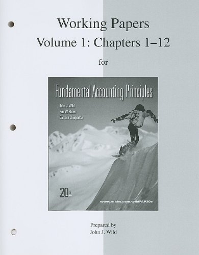 9780077338220: Working Papers print Vol. 1 (Ch 1-12)  for Fundamental Accounting Principles