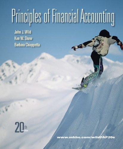 9780077338237: Principles of Financial Accounting