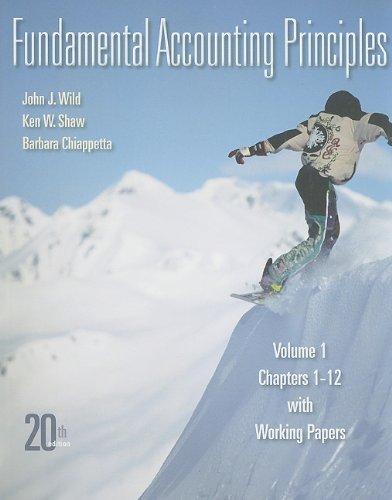 9780077338268: Fundamental Accounting Principles, Vol. 1, Chapters 1-12 with Working Papers, 20th Edition