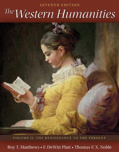 9780077338459: The Western Humanities Volume 2