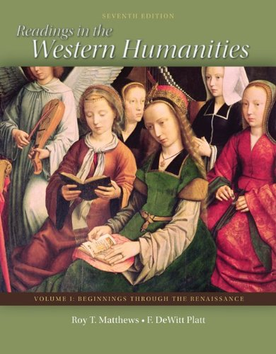9780077338480: Readings in the Western Humanities Volume 1
