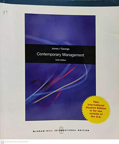 9780077338619: Contemporary Management (Custom Edition for National College, BUS 224)