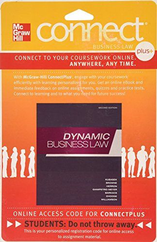 9780077339166: Connect Plus Access Card for Dynamic Business Law