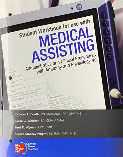 9780077340094: Student Workbook to accompany Medical Assisting: Administrative and Clinical Procedures with Anatomy & Physiology