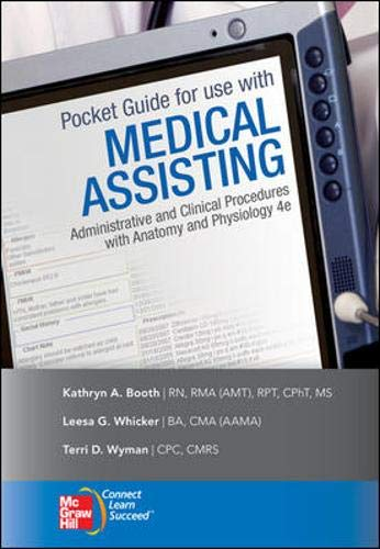 9780077340100: Pocket Guide to accompany Medical Assisting: Administrative and Clinical Procedures (Mcgraw-hill Medical Assisting)