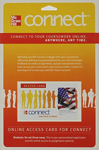 9780077342081: Connect American Government w/ LearnSmart Access Card for American Democracy Now
