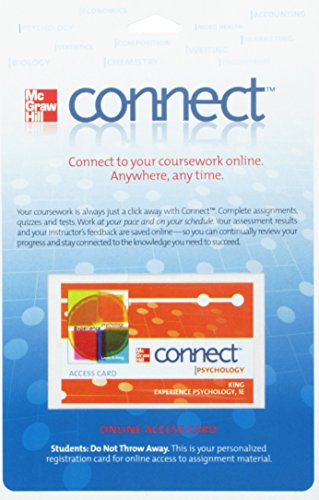 9780077343736: Connect Psychology Access Card for Experience Psychology