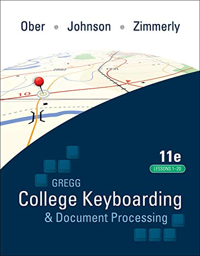 9780077344221: Gregg College Keyboarding & Document Processing (GDP); Lessons 1-20 text