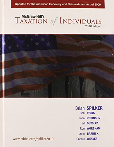 9780077345402: Taxation of Individuals 2010 Edition