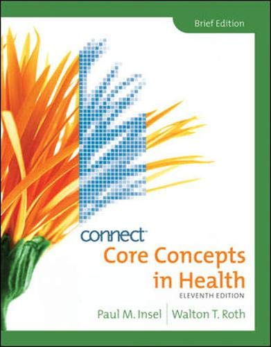 9780077345532: Core Concepts in Health, Brief with Connect Plus Personal Health Access Card